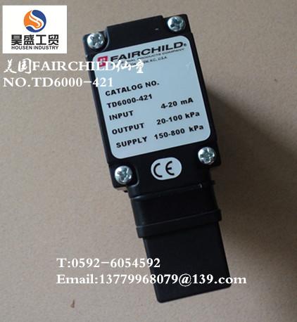 美国FAIRCHILD减压阀NO.TD6000-421